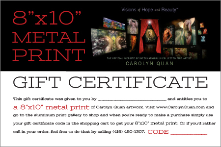 Gift Certificates-metalprint